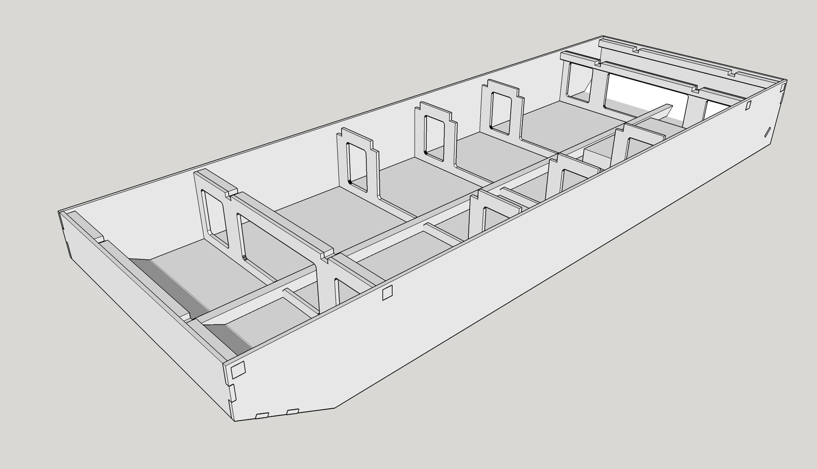 Barge design drawings for Drawing deck plans