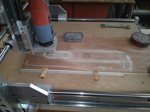 CNC milling in progress